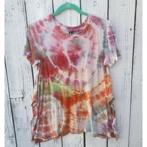 Design Lab Lord&Taylor Hand Tie Dye Upcycled Top S